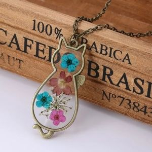 😻 Floral Cat Necklace
